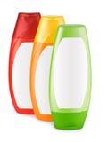 Three Shampoo Bottles Stock Photos