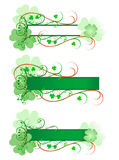 Three Shamrock Signs Stock Images