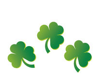 Three Shamrocks Royalty Free Stock Photography
