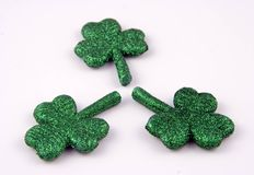 Three Shamrocks. On White Background Stock Image