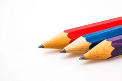 Three sharp pencils Royalty Free Stock Photos