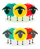 Three Sheep Illustration Royalty Free Stock Photos