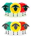 Three Sheep Illustration Royalty Free Stock Photos