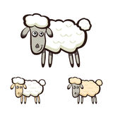Three sheep Royalty Free Stock Images