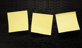 Three Sheet Of Paper On Black Royalty Free Stock Photos
