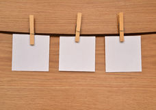 Three sheets of notes Stock Images