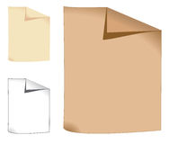 Three sheets of paper Royalty Free Stock Image