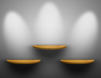 Three Shelf wooden. Royalty Free Stock Photo