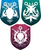 Three shields Royalty Free Stock Photo