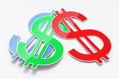 Three shiny dollar signs Stock Image