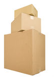 Three Shipping Boxes Royalty Free Stock Photos
