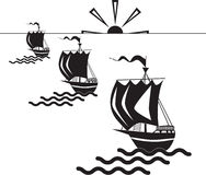 Three ships Stock Photography