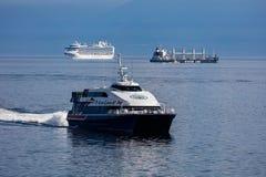 Three Ships Royalty Free Stock Photos