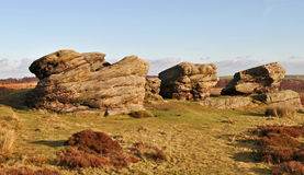 Three Ships Rocks in Derbyshire Royalty Free Stock Photos