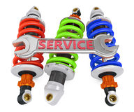 Three shock absorber Royalty Free Stock Photo