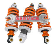 Three shock absorber Royalty Free Stock Image