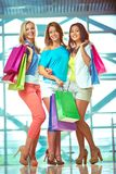 Three shoppers Royalty Free Stock Photography