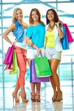 Three shoppers Royalty Free Stock Photos