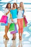 Three shoppers Stock Photo