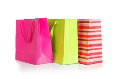 Three shopping bag Royalty Free Stock Images