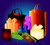 Three shopping bags Stock Photo