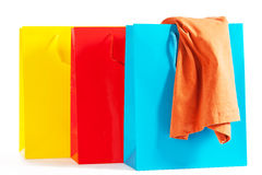Three shopping bags Royalty Free Stock Photography