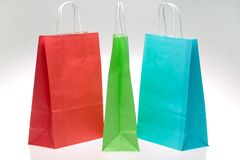 Three shopping bags Stock Photos