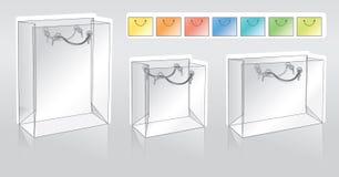 Three shopping packets stock illustration