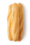Three short baguettes. Top view Royalty Free Stock Images