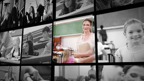 Three short clips of people in school Royalty Free Stock Photo
