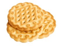 Three shortbread cookies Royalty Free Stock Image