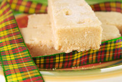 Three shortbread fingers. With tartan ribbon Stock Image