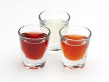 Three shot drinks Royalty Free Stock Images
