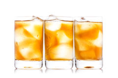 Three shot glass of drink Stock Image