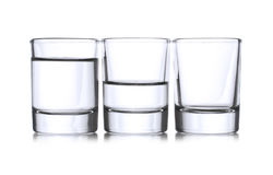 Three shot glasses Stock Photo