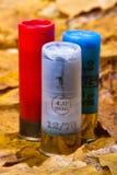 Three shotgun shells Royalty Free Stock Photos