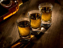Three shots Royalty Free Stock Image