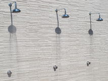 Three Shower head Stock Photo
