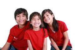 Three siblings Royalty Free Stock Images
