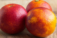 Three Sicilian oranges Royalty Free Stock Photo