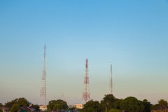 Three Signal Tower. In city Stock Images
