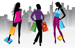 Women on shopping Stock Photography