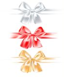 Three silk bow Royalty Free Stock Photo