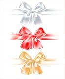 Three silk bow Royalty Free Stock Photo