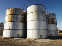 Three silos. Royalty Free Stock Photos