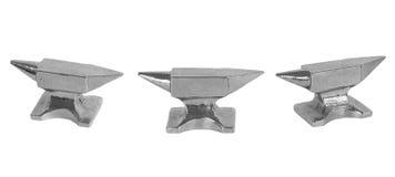 Three Silver Anvils Royalty Free Stock Photos