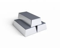 Three Silver Bars Stock Photos