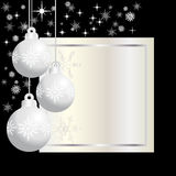 Three  silver  christmas balls Stock Photo