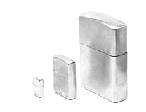Three silver lighters Royalty Free Stock Image