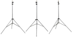Three silver photo stand on different view isolated on white background Royalty Free Stock Photography